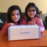 Little Passports Little Explorer Box | OurFavBox girls excited to open it