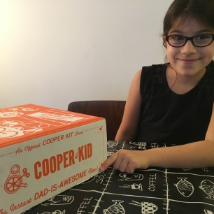 OurFavBox Review Cooper & Kid Box | Healey so happy the box says SPY